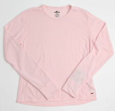 Hot Chillys Youth Girls L/S Crew Top Pink L New
