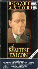 The Maltese Falcon~Humphrey Bogart~Mary Astor~Vhs~Mint Cond.~Fast 1st Class Mail