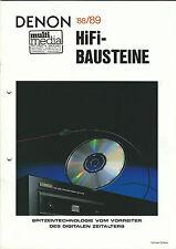 Denon Katalog Prospekt 1988/'89 DCD810 DAP5500 PRA1200 POA6600 POA4400 PMA1520