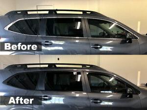 Crux Moto Window Chrome Delete Air Release Satin Black fits Subaru Ascent 2019+