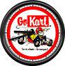 Go Kart Racing Cart Karting Poster Art Wall Clock #333