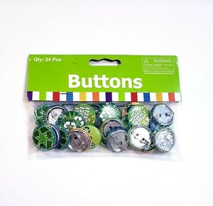 """Pack of 24 Small 1"""" Metal Lapel Pins Buttons Earth Day Reduce Reuse Recycle"""