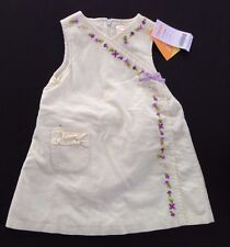 NWT Gymboree Fun in the Snow 12-18 Months Embroidered Bird & Flower Jumper Dress