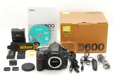 【Mint in Box】Nikon D600 24.3MP Digital SLR Camera Black Body From Japan #630