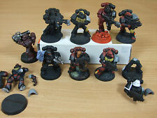 10 PLASTIC SPACE MARINES TACTICAL PAINTED (473)