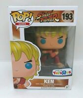 Funko Pop Street Fighter Ken 193 Toys R Us Exclusive Vinyl Figure