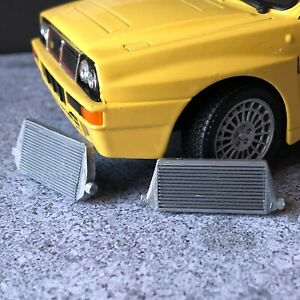 2 x Miniature Tuning Intercoolers for 1:24 Diorama Garage Car Model