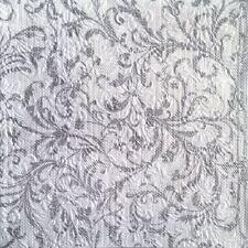 Plata Floral adamascado Navidad con relieve 33x33cm 33x33cm 15x 3 Capas