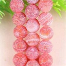 """Natural 8mm Red Dream Fire Dragon Veins Agate Round Gems Loose Beads 15"""" AA"""