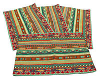 Native Blanket Design Jacquard Place Mats Set of 4 13x19 inches