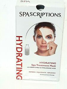5 SPASCRIPTIONS HYDRATING Spa Treatment Mask With Goat's Milk Hyaluronic Acid