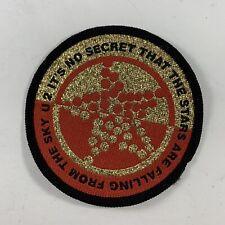 """U2 Concert Patch - 1991 - """"The Fly"""" Lyrics - """"No Secret Stars Are Falling .Sky"""""""