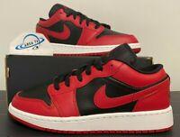 """Nike Air Jordan 1 Retro Low """"Reverse Bred"""" OG Black/Red 553558-606 Size 3-13 NEW"""