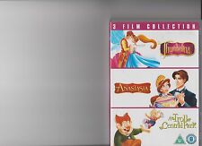 TRIPLE FILM COLLECTION - THUMBELINA / ANASTASIA / TROLL IN CENTRAL PARK DVD KIDS