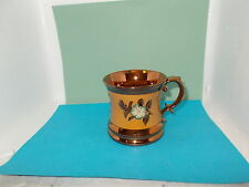 Victorian C19th Sunderland Copper Lustre Tankard Mug with raised decoration (b)