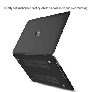 "Black Matte Rubberized Hard Case Cover For Apple MacBook Air Pro 11"" 13"" 15"" 16"""