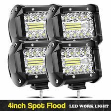 4X 4inch 60W LED Work Light Pod Reverse Spot Flood Offroad Lamp ATV Truck 12V24V