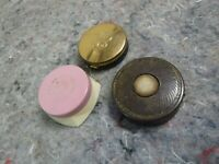 Lot of 3 Vintage Vanity Makeup Rouge Containers-Airspun-Merle Norman-Ponds