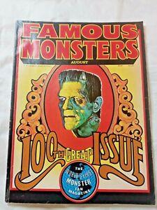 Vtg Famous Monsters of Filmland #100 Giant Issue 1973 Warren magazine Nice Copy