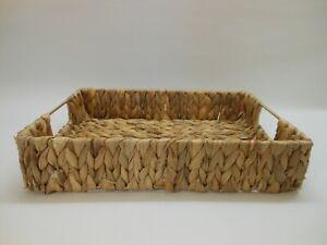 Ablagekorb Aufbewahrungskorb Korb aus Wasserhyazinthe 38x27x8