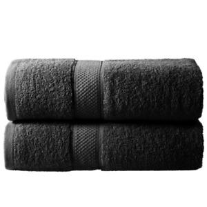 2 Pcs 100% Super Absorbent Ring Spun Cotton Soft&High Absorbent Bath Sheet Towel