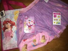 Disney Princess Sz M 7 8 Skirt Bag Jewelry Lot + Justice Stickers