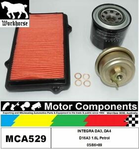 FILTER SERVICE KIT for Honda INTEGRA DA3, DA4 D16A3 1.6L Petrol 05/86>89