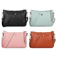 Women's PU Leather Shoulder Bag Messenger Purse Satchel Tote CrossBody Handbag