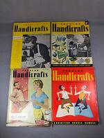 1950s Popular Handicrafts & Practical Homecrafts Magazines x 4 - Vintage Hobbies