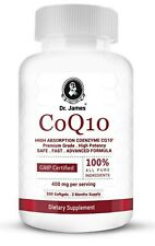200 CoQ-10 Softgel 400mg serving Coq10 Coenzyme Cardiovascular Exp: 11/22