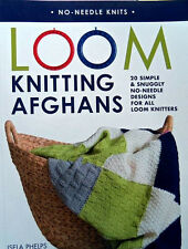 Loom Knitting Afghans  20 Designs  144 Pages  Soft Cover