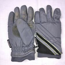 Thinsulate Mens Gloves SZ M Gray Black Lined Winter Ski Thermal Insulation