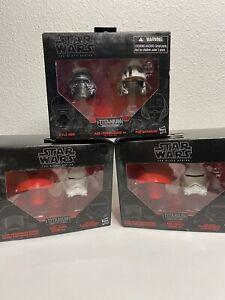 Star Wars Black Series Titanium Series Mini Helmet Lot Of 3.