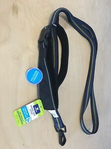 Top Paw 4'-6' Hands Free Leash Comfort Reflective Blue Black New