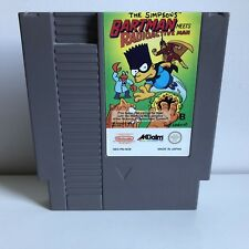 Bartman Meets Radioactive Man Pal B Nintendo NES RARE Nice Label