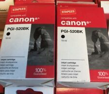 PGI-520BK - New Black Ink Cartridge -  Compatible with Canon - Set of 2 Inks