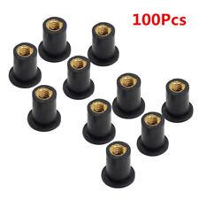 100Pcs M5 Rubber WellNut 5mm Metric Motorcycle Windscreen Well Nut Brass NUTS