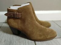 Guess Women's Leather Zip Up Ankle Boots Booties Heels Size 7.5M  Brown Tan NWOT