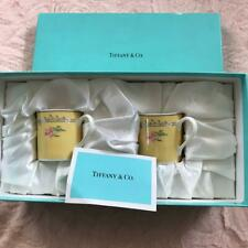 Tiffany & Co. Cup & Saucer 2 Pack Pink Tulip limited F/S JAPAN
