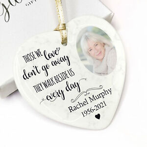 Personalised Photo Remembrance Bauble Christmas Tree Decor Plaque Memorial Gifts