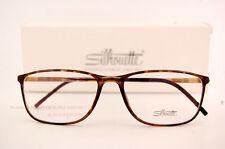 New Silhouette Eyeglass Frames SPX ILLUSION 2888 6051 Brown Women Men SZ 55