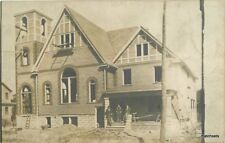 C-1906 Occupational Workers Church under Construction Rppc real photo 10190