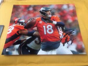 Peyton Manning Denver Broncos Signed 8x10 Photo COA