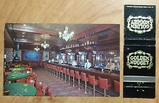 1960'S POSTCARD & MATCHBOOK COMBO OF THE GOLDEN NUGGET GAMBLING HALL LAS VEGAS