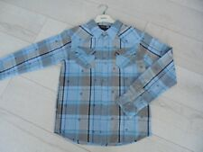 BILLABONG // chemise manches longues carreaux bleue // 14 ans