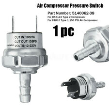 Air Compressor Tank Pressure Switch 5140062-38 D55140 C1010 For DeWalt #