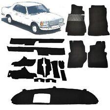 Mercedes W123 Coupe Teppich Velours anthrazit Keder Stoff schwarz