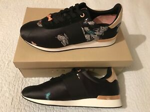 Ted Baker orient lace up  Leather/ textile Trainers size UK 8  bnib