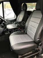 FORD TRANSIT CUSTOM MK8 Van Seat Cover 2 Singles Quilted Padded Panels  X120GYBK
