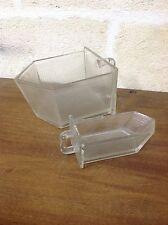 Art. 01 - Coppia di vecchie SESSOLE  in vetro per alimenti